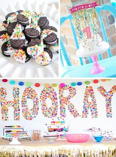 Confetti Birthday Bash with LOTS of FUN IDEAS via Kara's Party Ideas