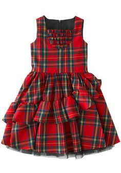 Girls Tartan Ruffles Dress in Girls Tartan Ruffles Dress - Get great deals at JustFabPlayful and pretty for your little lady, this red plaid printed sleeveless dress with tulle lining is a must-have for any upcoming celebrations. Cotton Frocks For Kids, Frocks For Girls, Kids Frocks Design, Baby Frocks Designs, African Dresses For Kids, Little Girl Dresses, Cute Outfits For Kids, Toddler Outfits, Kids Dress Wear