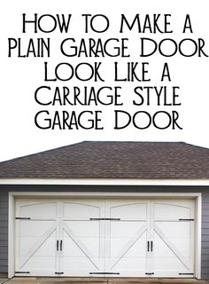Why settle for a plain generic garage door that all your neighbors have when you can add decorative hardware and make your plain garage door look like a carriage style garage door?  Here are some tips and pointers for getting a carriage styl...