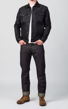Japan Blue JK1016 Jeans Jacket Black x Black 14oz