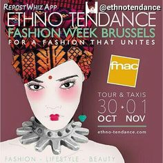Upcoming event SAVE THE DATE: 30/10-01/11  I'll be there! And you?  #repostfrom @ethnotendance #repostwhiz #event #comingsoon #fashion #lifestyle #beauty #ethnic #fashionweek #fashionista #belgium #designers #otsalyaconseil #conseil #consulting #consultant #marketing #sales