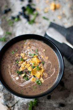 Spicy Black Bean Soup//