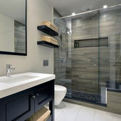 Wood Tile Shower Home Design Ideas, Pictures, Remodel and Decor