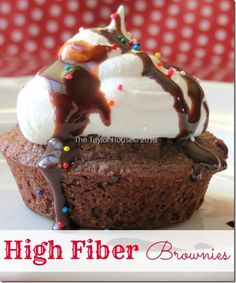 Blog post at The Taylor House :  Did you know that fiber could look that good? It tastes pretty good too! My oldest son LOVES brownies and could eat an entire pan on h[..]