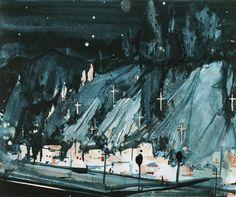La Conchita // Jules de Balincourt //oil on panel