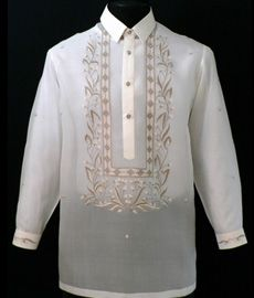 Classic Pina-Jusi Fabric Barong Tagalog - Barongs R us - Barongs R us Barong Tagalog, Filipiniana Dress, Philippines Fashion, Line Shopping, Fashion Design Sketches, Hand Embroidery Designs, Silk Fabric, Fashion Outfits, Suits