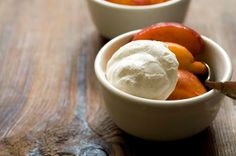 peaches and ginger-lime whipped cream