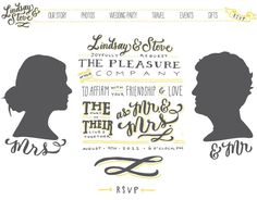 Typography - Typography - molly jacques wedding site... Typography design & inspiration  Preview – Work    Description  molly jacques wedding site  – Source –