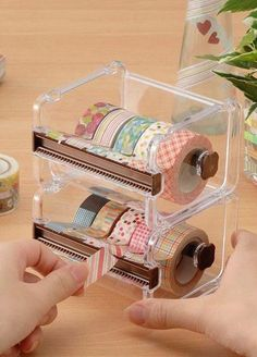 Washi tape dispenser Storage Case / Masking Tape Organizer / Washi Tape…