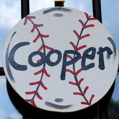 Baseball Door Hanger Baseball team gift by LooLeighsCharm on Etsy, $14.00