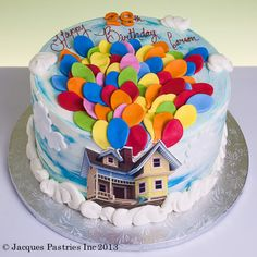 Up cake .if only I could convince Ben that this needs to be our wedding cake. Adult Birthday Cakes, Birthday Cakes For Women, Disney Birthday, Birthday Bash, Birthday Ideas, Zoes Fancy Cakes, Ladybug Cakes, The Joy Of Baking, Movie Cakes
