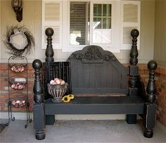 The Backyard Boutique by Five to Nine Furnishings: Black Storage Bench/Toy Box