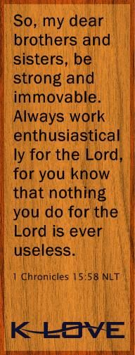 Always let him work through you & He will be able to do miracles, even though you may never know about them in this life.