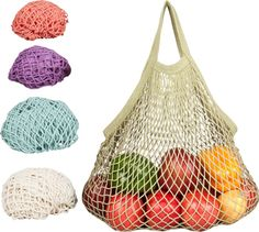 I love these bags! So handy and cute! Perfect for the farmer's market! ECOBAGS String Bag Pastels Collection Tote - ECOBAGS.com