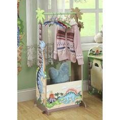Teamson Kids -  Dinosaur Kingdom Coat Rack with Storage