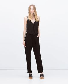 ZARA - WOMAN - LONG JUMPSUIT  WITH STRAPS
