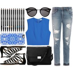 Simple Day Out by shadow13goddess101 on Polyvore featuring Alice + Olivia, Joe's Jeans, Jimmy Choo, Aspinal of London, Casetify, Yves Saint Laurent, Shany, brunch and spring2016