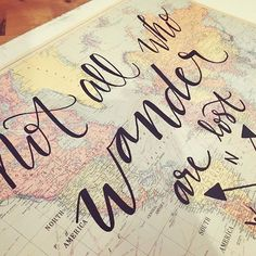 :: not all who wander are lost :: lettering new things is my favorite! I will be offering hand-lettered maps in my etsy shop next week!  . . . #handlettering #map #mianicoledesignco #uniquegifts #thatsdarling #travel #travelgifts #handletteredmap #adventure #explore #notallwhowanderarelost #letteringart #lettereverything #etsysellersofinstagram #etsy #50words #communityovercompetition  #pnwcreatives #map #world #creativityfound #buyhandmade #shopsmall #shoplocal