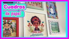 DIY COMO HACER CUADROS DE PAPEL DECORATIVOS | CREATIVA OFFICIAL  🎨❤️ Estos cuadros son lo mejor! Son súper fáciles de hacer, se ven bien chulitos y son muy económicos! Por lo tanto una idea con las 3 B's (Buena, Bonita Y Barata) Enmarca tu imagen o foto favoritas con estos lindos cuadros de papel decorativos! Ideas Paso A Paso, Origami, Etsy, Youtube, Wall Pictures, Decorative Paper, Easy Crafts, Paper Envelopes, Cards