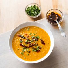 Red Lentil Soup with North African Spices