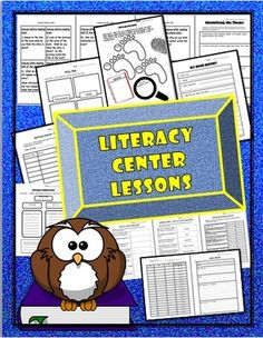 Literacy Center Packet: Making Predictions, Theme, Setting, Conflicts and More!  from TEACHLEARN on TeachersNotebook.com -  (19 pages)  - 12 lessons in packet