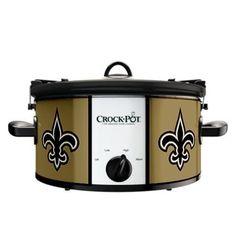 I NEED THIS!! Official NFL Crock-pot Cook & Carry 6 Quart Slow Cooker - (New Orleans Saints) , http://www.amazon.com/dp/B00AK23AHI/ref=cm_sw_r_pi_dp_kJvesb02YSHXW