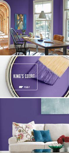 The dark purple hue