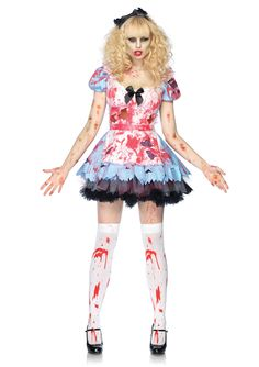 Undead Alice Zombie Costume by Leg Avenue -  Who knew Zombies could be sexy and scary? –   #halloween #zobies #scary #sexy #spooky #scary #fancydress #costume #fancydresscostume #fancy #dress #sparklingstrawberry