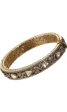 Munnu - Diamond Fancy Vine Bangle via Barneys New York #costume jewelry #arm party