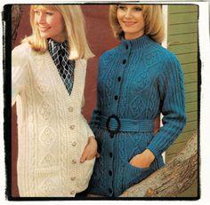 Vintage aran cardigan