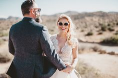 Love this fun photo with the bride and groom in sunglasses
