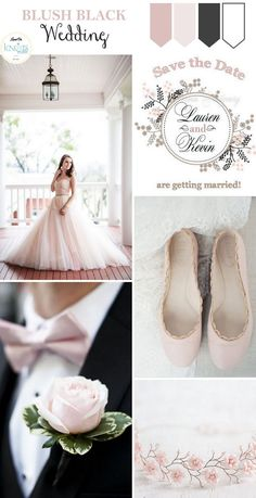Blush Black Wedding Inspiration light-knots