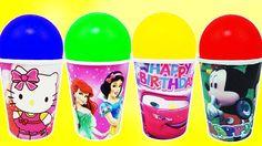 Learn Colors Balls Orbeez Surprise Toys Frozen Elsa Mickey Mouse Nursery...