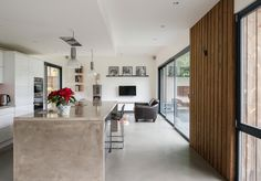 Kitchen - and wood cladding