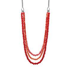 Fossil® Schmuck Halsketten Damen Damen Halskette Rot JA5919
