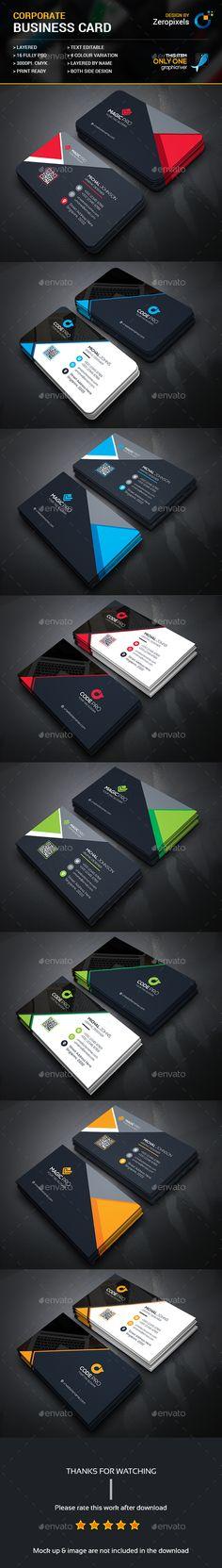 Business Card Templates PSD Bundle. Download here: https://graphicriver.net/item/business-card-bundle/17509004?ref=ksioks