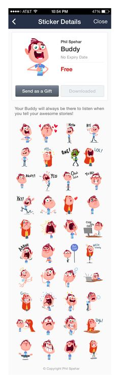 LINE Sticker by Phillip Spehar, via Behance ★ Find more at http://www.pinterest.com/competing/