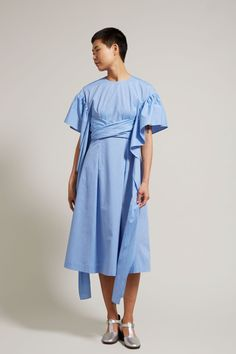 Rejina Pyo Grace Dress in Chambray Cotton Poplin