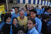 IFCJ tour director, Rev. Clark visiting Migdal Ohr in Israel