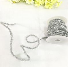 OZXCHIXU (TM) 3m * Silver Metallic String Lace Ribbon for Craft DIY *** See this great item.