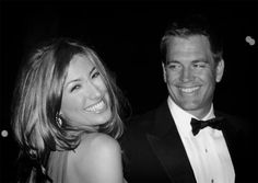 Michael Weatherly and his wife, Bojana. I love how he is looking at his wife!