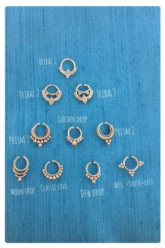 Wholesale set of 10 Faux Septum Nose Ring by TribalGoddessLove, $120.00