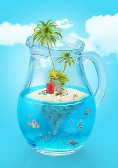Paradise island on Behance