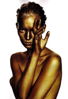 Golden Kate Moss