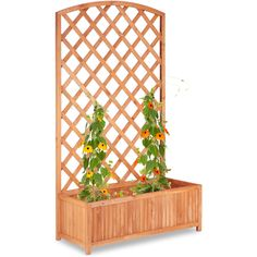 Wooden Expanding Floral Leaf Trellis 180 x 30cm Wall Decoration Willow Fence