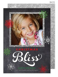 Chalkboard Christmas Bliss Photo Cards