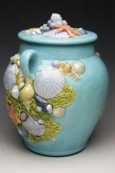 Urns Northwest  - Seashell Ocean Theme Ceramic Urn, $399.00 (http://urnsnw.com/seashell-ocean-theme-ceramic-urn/)