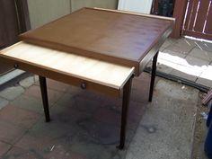 Jigsaw puzzle table/ vintage card table/ J Dooley