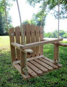 REGULAR SIZE CEDAR Kids Wooden Swing Backyard от HiddenCreekCrafts