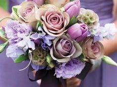 Purple Wedding Bouquets, Bride Bouquets, Flower Bouquet Wedding, Lavender Bouquet, Modern Wedding Flowers, Floral Wedding, Ivory Wedding, Wedding Colors, Orange Wedding